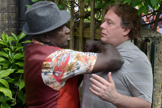 Patrick Trueman confronts Ian on Eastenders.